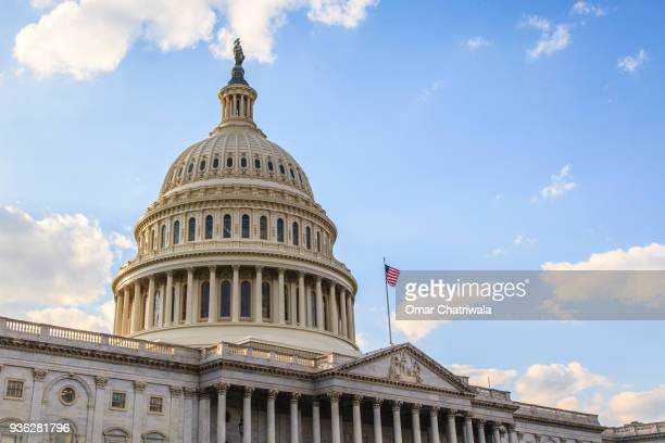 the united states capitol - overheid stockfoto's en -beelden