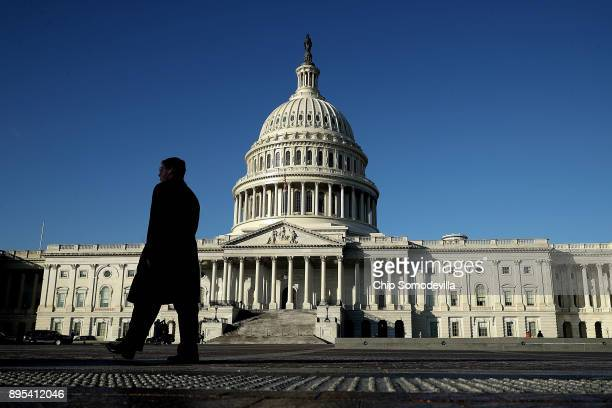 The United States Congress is poised to pass huge tax cuts in both the House and Senate December 19 2017 in Washington DC The legislative victory...