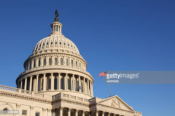The United States Congress with flag