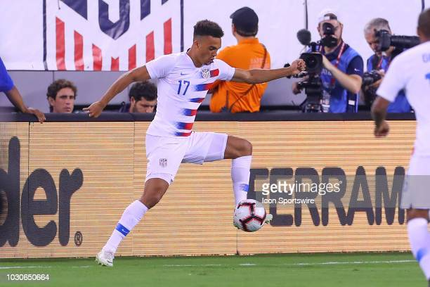 the United States defender Antonee Robinson during the first half of the International Friendly Soccer match between the the United States and Brazil...