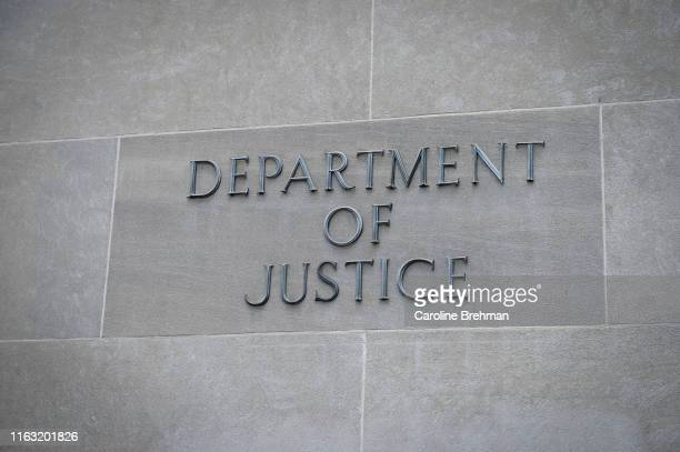 The United States Department of Justice is pictured in Washington on Wednesday August 21 2019