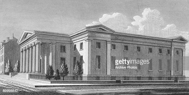 The United States Mint in Philadelphia 1830 Situated on the corner of Chestnut and Juniper Streets this was the second Philadelphia building to house...