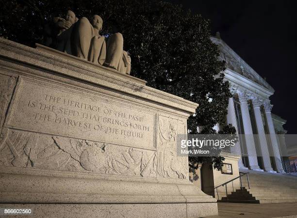 The United States National Archives building is shown on October 26 2017 in Washington DC Later today the National Archives will release more than...