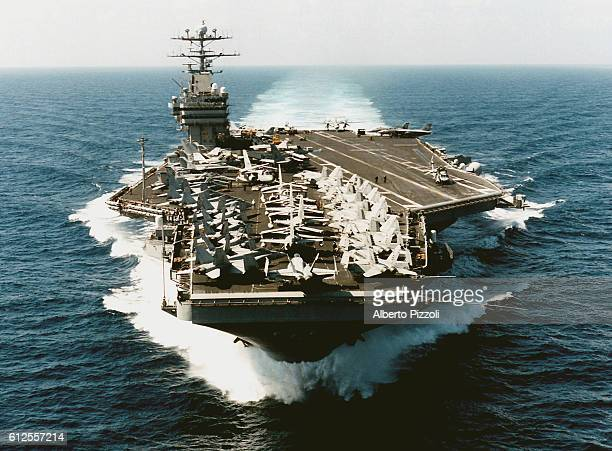 The United States Navy aircraft carrier USS George Washington