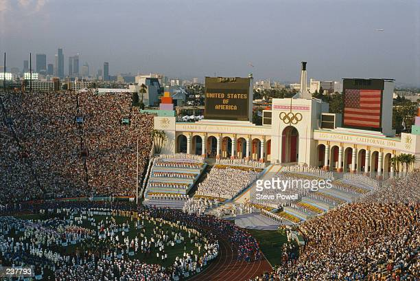 The Opening Ceremony at the 1984 Los Angeles Olympics