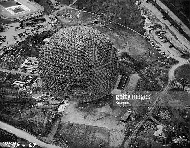 The United States pavilion at the Montreal Expo designed by US engineer Buckminster Fuller