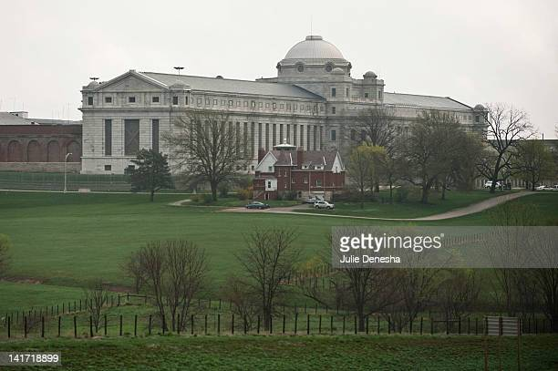 The United States Penitentiary is seen March 22 2012 in Leavenworth Kansas The United States Penitentiary is a medium security facility housing male...