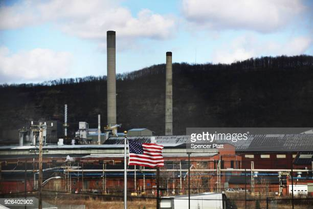 The United States Steel Corporation plant stands in the town of Clairton on March 2 2018 in Clairton Pennsylvania In a controversial move that has...