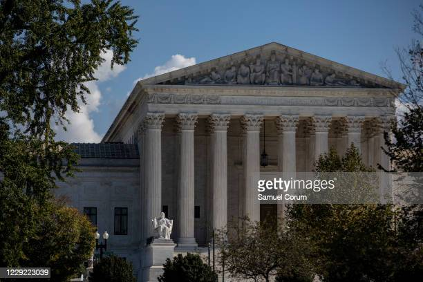 The United States Supreme Court during a warm autumn day on October 22, 2020 in Washington, DC. Judge Amy Coney Barrett was nominated by President...