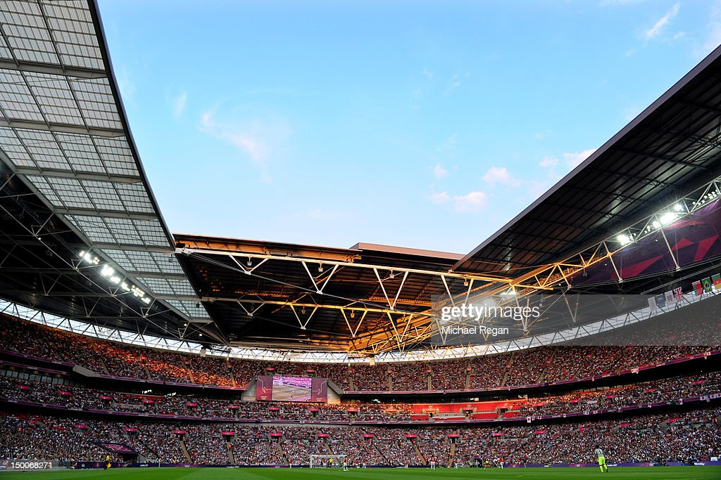 The United States take on Japan in the Women's Football gold medal match on Day 13 of the London 2012 Olympic Games at Wembley Stadium on August 9, 2012 in London, England.
