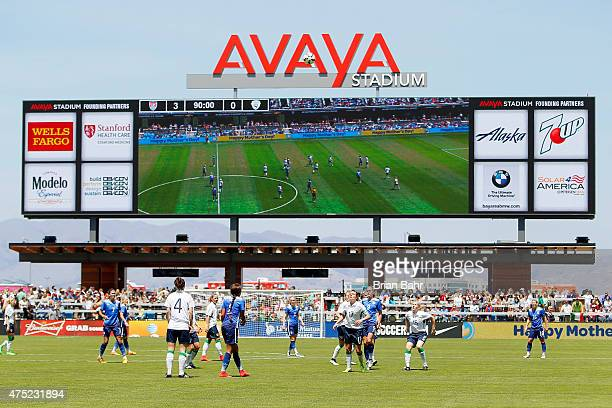 The United States takes on Ireland in the second half of their international friendly match on May 10 2015 at Avaya Stadium in San Jose California...