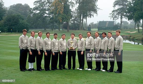 The United States team before the Ryder Cup golf competition held at The Belfry Warwickshire circa September 1993 The United States team beat the...