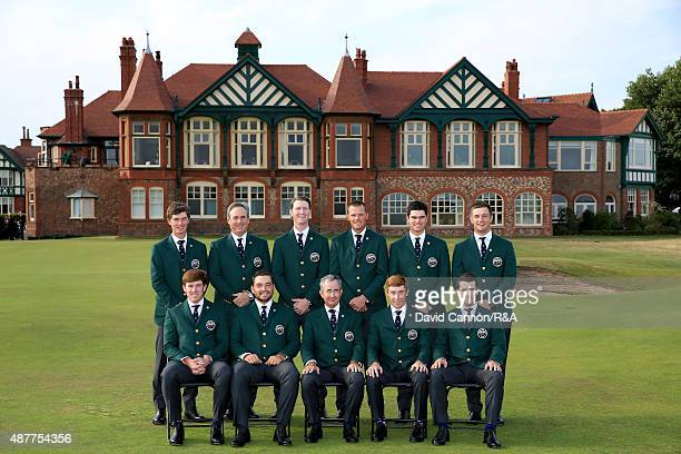 The United States team Maverick McNealy, Mike McCoy, Jordan Niebrugge, Scott Harvey, Beau Hossler, Bryson DeChambeau, Robby Shelton, Hunter Stewart,...