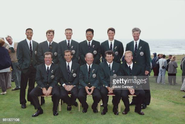 The United States team Notah Begay Alan Bratton Jerry Courville Jr Kris Cox John Harris Tim Jackson Trip Kuehne Buddy Marucci and Tiger Woods during...