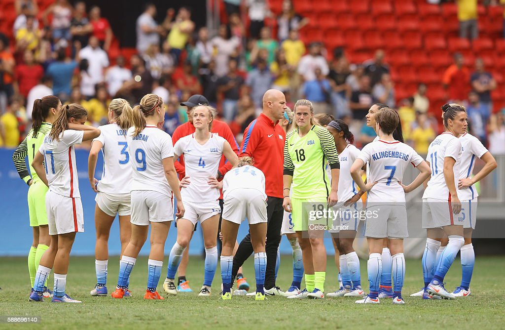 USA v Sweden Quarterfinal: Women's Football - Olympics: Day 7 : News Photo