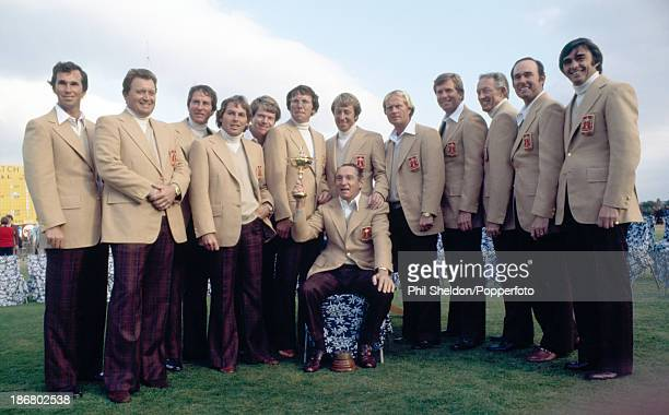 The United States team with the trophy after winning the Ryder Cup golf competition held at the Royal Lytham and St Annes Golf Club Lancashire 17th...