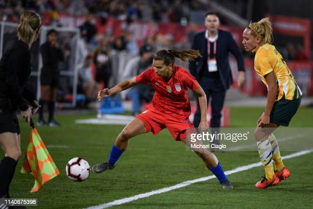 The United States Women's National Team takes on Australia at Dick's Sporting Goods Park on April 04 2019 in Commerce City Colorado