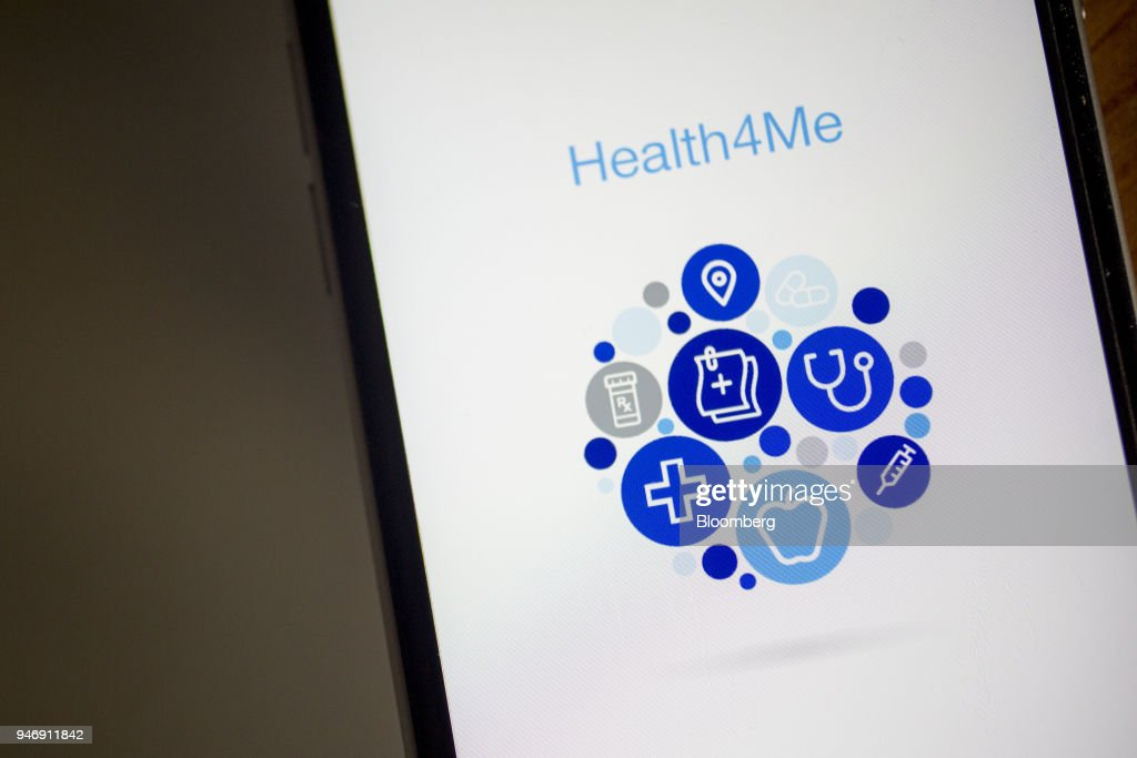 The UnitedHealthcare Health4Me application, a segment of UnitedHealth Group Inc., is displayed on an Apple Inc. iPhone in Washington, D.C., U.S., on Wednesday, April 11, 2018. UnitedHealth is expected to release earnings figures on April 17. Photographer: Andrew Harrer/Bloomberg via Getty Images
