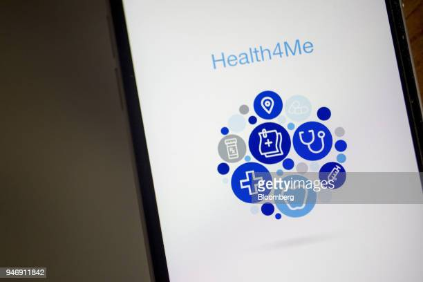 The UnitedHealthcare Health4Me application a segment of UnitedHealth Group Inc is displayed on an Apple Inc iPhone in Washington DC US on Wednesday...