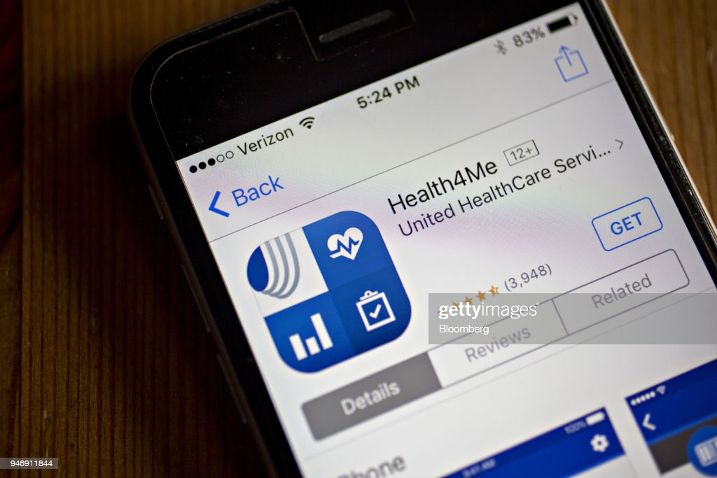 The UnitedHealthcare Health4Me application, a segment of UnitedHealth Group Inc., is seen in the App Store on an Apple Inc. iPhone in Washington, D.C., U.S., on Wednesday, April 11, 2018. UnitedHealth is expected to release earnings figures on April 17. Photographer: Andrew Harrer/Bloomberg via Getty Images