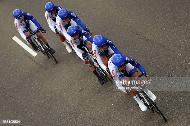 The UnitedHealthCare Pro Cycling Team rides in the stage two team time trial of the Amgen Breakaway from Heart Disease Women's Race on May 20, 2016...