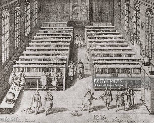 The University Library At Leiden The Netherlands In The Seventeenth Century From The Book Short History Of The English People By JR Green Published...