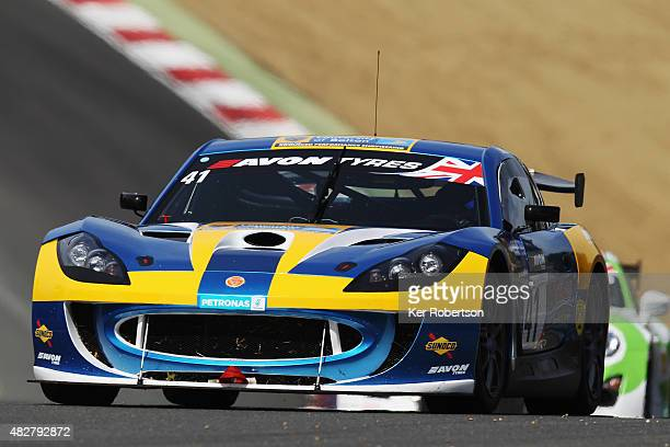 The University of Bolton Ginetta G55 of Anna Walewska and Rob Garofall drives during the British GT Championship race at Brands Hatch on August 2,...