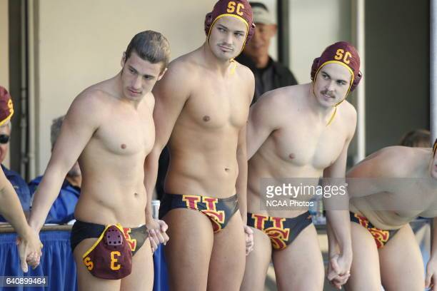 The University of California Los Angeles takes on the University of Southern California during the Division I Men's Water Polo Championship held at...