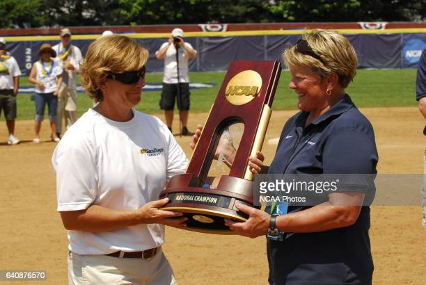 The University of California San Diego take on the University of AlabamaHuntsville during the Division II Women's Softball Championship held at the...