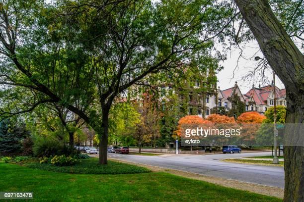 シカゴ大学 - 59 セント ・大学アベニュー - シカゴ大学 ストックフォトと画像