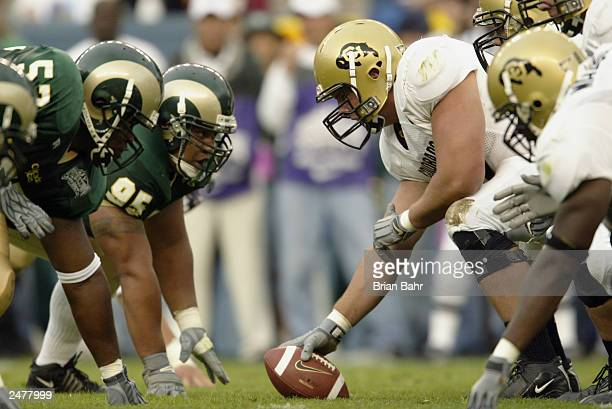 The University of Colorado Buffaloes face off against the Colorado State University Rams during the game at Invesco Field at Mile High on August 30...