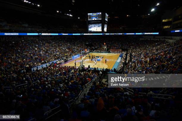 The University of Kansas takes on the University of Pennsylvania during the 2018 NCAA Photos via Getty Images Men's Basketball Tournament held at...