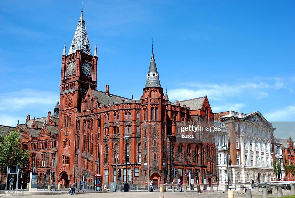 The University of Liverpool Victoria Building : Stock Photo