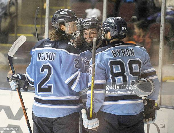The University of Maine hockey team played the University of New Hampshire at the Cross Insurance Center on Tuesday night UMO's#3 Rob Michel is...