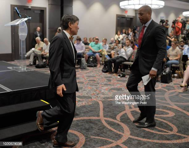 The University of Maryland hosted a news conference Tuesday afternoon with University of Maryland President Wallace D Loh left years the podium to...