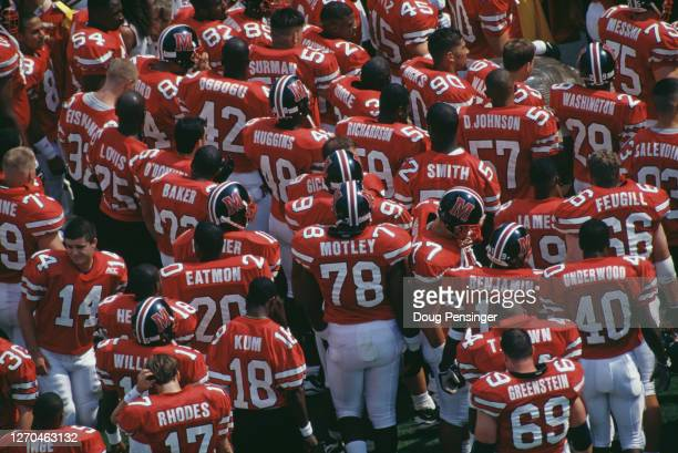 The University of Maryland Terrapins football team walk onto the field for their NCAA Big East Conference college football game against the...