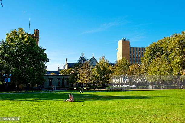 The University of Melbourne South Lawn in Autumn 12th April 2015