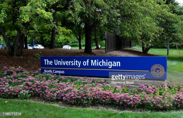 The University Of Michigan North Campus signage at the University Of Michigan in Ann Arbor Michigan on July 30 2019