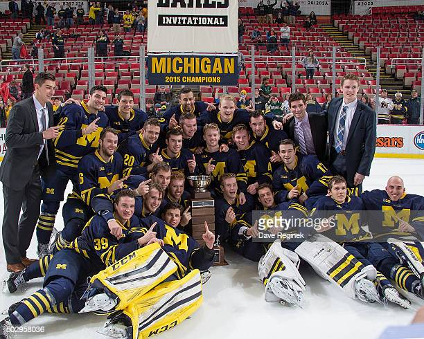The University of Michigan Wolverines defeated the Michigan Tech Huskies 32 to win the Great Lakes Invitational Day Two hockey tournament at Joe...