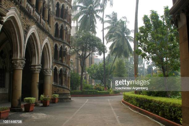 the university of mumbai, gothic tropical style, mumbai, india - argenberg fotografías e imágenes de stock