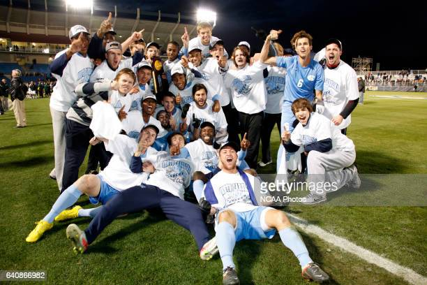 The University of North Carolina takes on the University of North Carolina Charlotte during the Division I Men's Soccer Championship held at Regions...