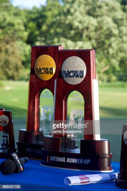 The University of Oklahoma takes on the University of Oregon during the Division I Men's Golf Team Championship held at Rich Harvest Farms on May 31...