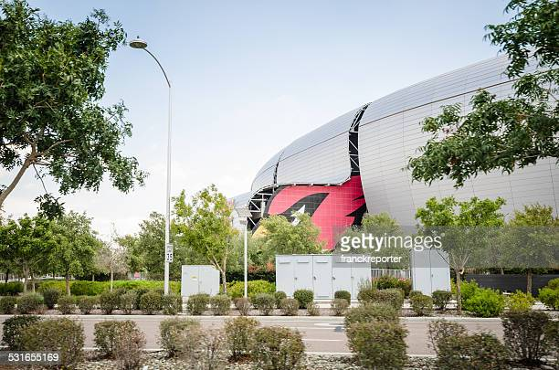 the university of phoenix stadium in glendale - glendale arizona stock photos and pictures