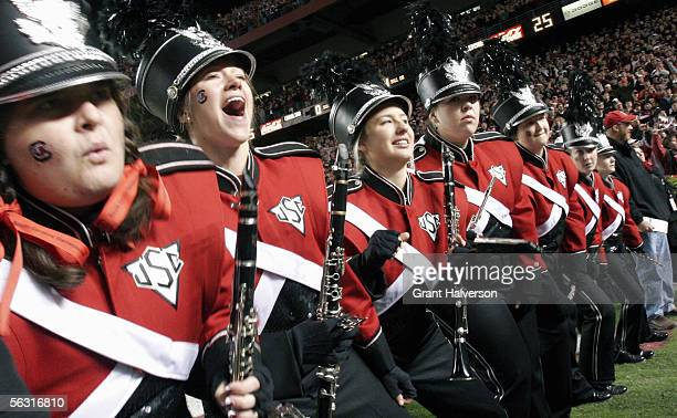 The University of South Carolina band performs during the game with the Clemson Tigers on November 19 at WilliamsBrice Stadium in Columbia South...