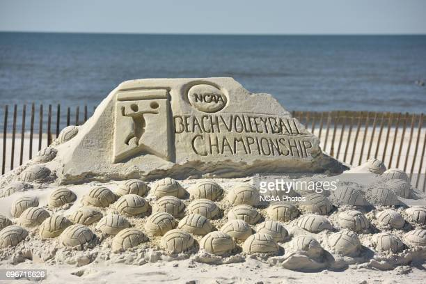 The University of Southern California takes on Pepperdine University during the Division I Women's Beach Volleyball Championship held at Gulf Place...