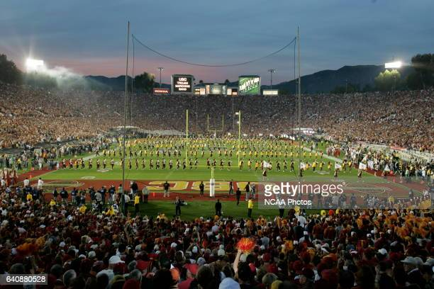 The University of Southern California Trojans and the University of Texas Longhorns battle for the BCS National Championship Game at the Rose Bowl in...