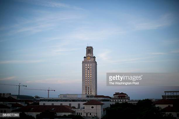 The University of Texas at Austin clocktower where a mass shooting took place in 1966 Ilana PanichLinsman for The Washington Post via Getty Images