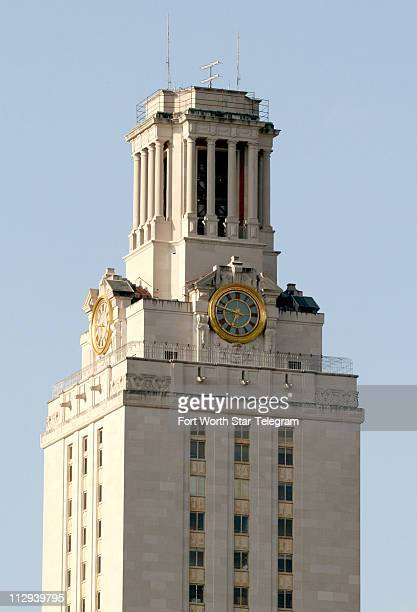 The University of Texas main building tower is shown on Thursday July 27 in Austin Texas Sniper Charles Whitman shot and killed 14 people from the...