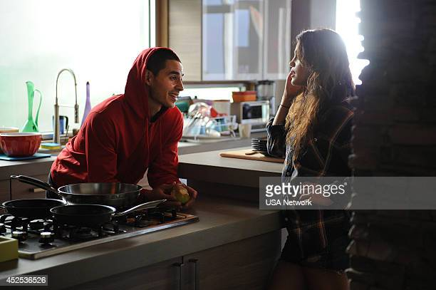 GRACELAND The Unlucky One Episode 206 Pictured Manny Montana as Johnny Tuturro Vanessa Ferlito as Charlie DeMarco