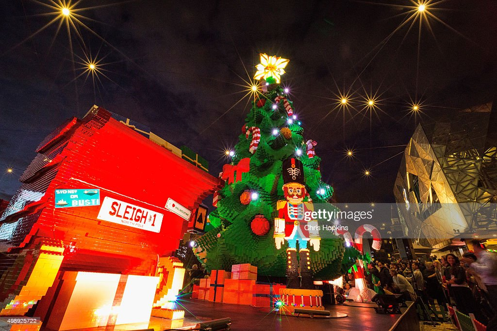 The unveiling and lighting of the Lego Christmas tree at Federation Square on November 27 & Melbourne Lights Up Giant Christmas Tree Made Of Lego Photos and ... azcodes.com